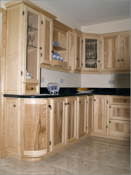 Pine unfinished kitchen ideas about handmade for Solid wood kitchen cabinets